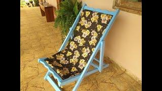 Reformei essa Cadeira de Praia Achada no Lixo