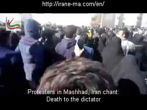 Protesters in Mashhad, Iran chant, death to Rouhani, death to the dictator