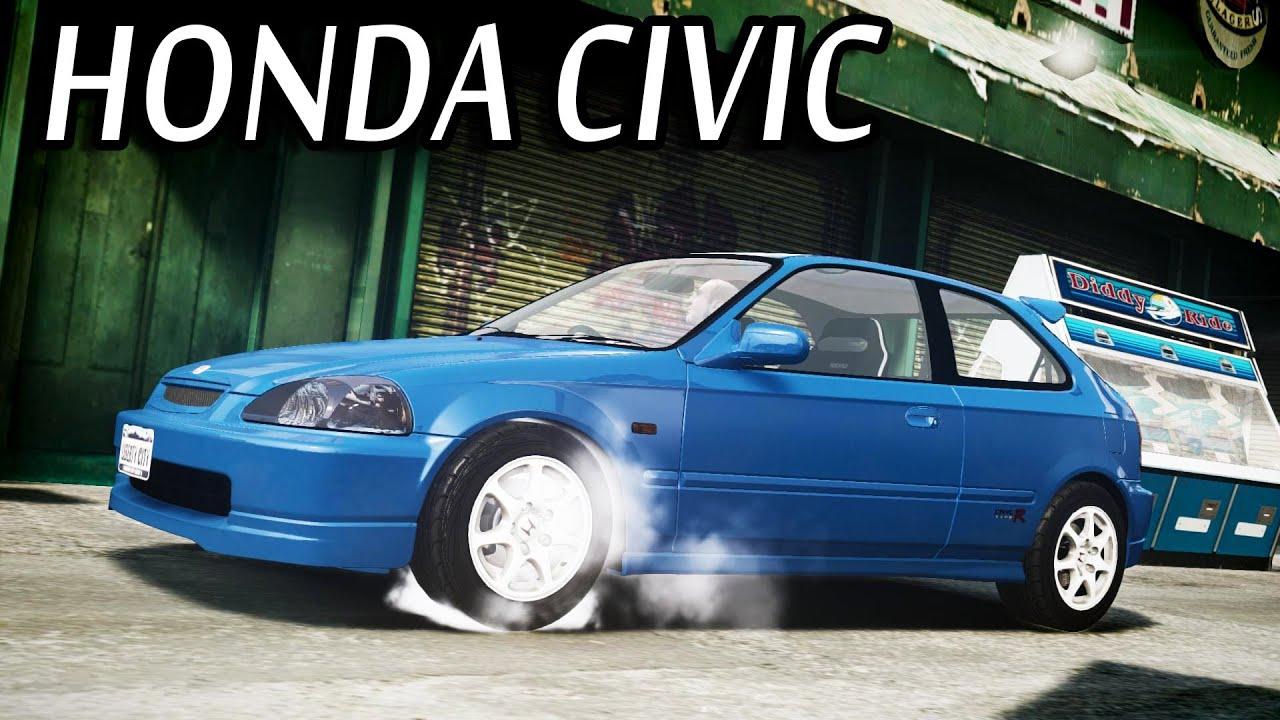 GTA IV - Honda Civic Type R EK9 - YouTube