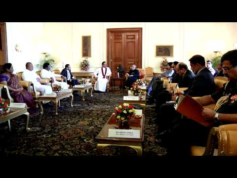 President of the Democratic Socialist Republic of Sri Lanka calls-on the President on May 27, 2014