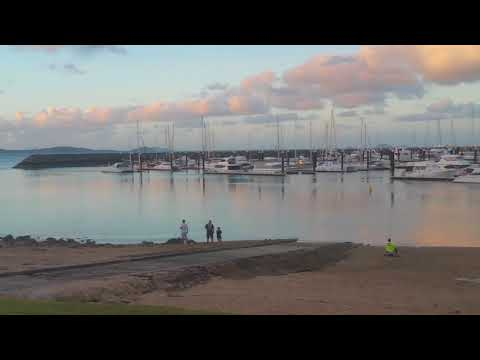 Panoramic Video of Shingy beach Abell Point Marina Airlie Beach Queensland Australia