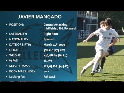 Javier Mangado COMMITTED- College Soccer Recruiting Video Fall 2018