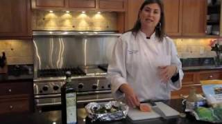 Ask Chef Nicole: 15 Minute Baked Salmon With Spinach & Brown Rice