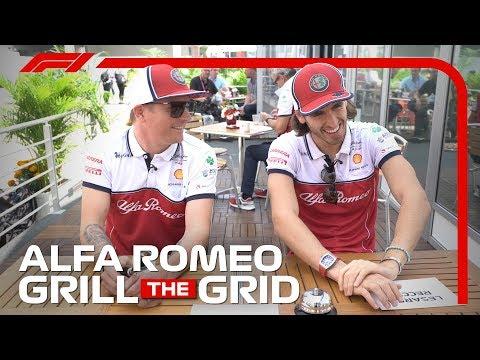 Alfa Romeo&39;s Kimi Raikkonen and Antonio Giovinazzi  Grill The Grid 2019
