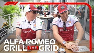 Alfa Romeo's Kimi Raikkonen and Antonio Giovinazzi! | Grill The Grid 2019