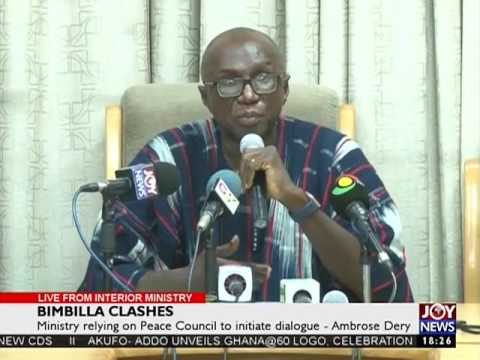 Ministry relying on Peace Council to initiate - Ambrose Dery