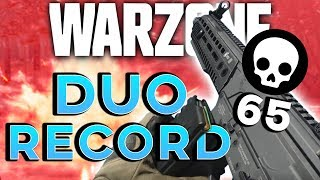 WARZONE *DUO* QUADS  WORLD RECORD (65 KILLS) - I GOT 41! | Call of Duty: Warzone Highlights