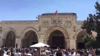 Mescid i Aksa'ya Türk Bayrağı