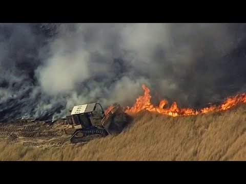 Grass Fire Burns 1,000 Acres, Forces Evacuations in