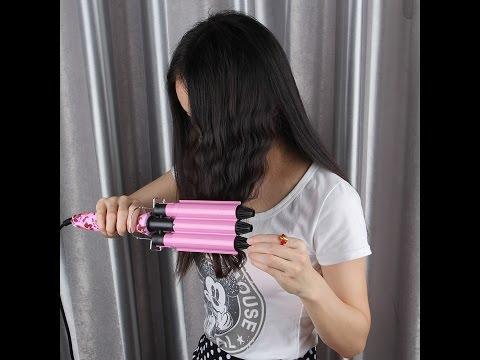 Плойка для волос с алиэкспресс. Тройная плойка для волос.обзор