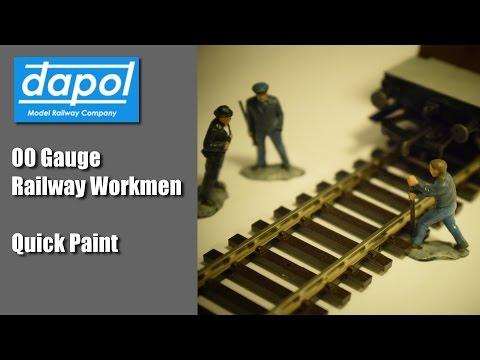 Dapol 00 Gauge Railway Workmen – Quick Paint – Model Railways