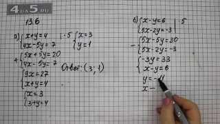Упражнение 13.6. Вариант А. Б. Алгебра 7 класс Мордкович А.Г.