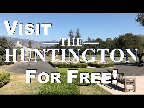 Visit The Huntington Museum & Gardens For Free!