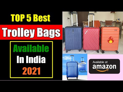 Top 5 Best Trolley Bags In India 2021 - Review & Buying Guide