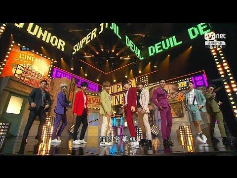 【LIVE中字】超清畫質 150716 Super Junior - DEVIL @ M!Countdown Comeback Stage