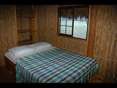 Inside the hut in the sea, Cabañas Naranjo Chico, San Blas, Kuna Yala, Guna Yala, Panama