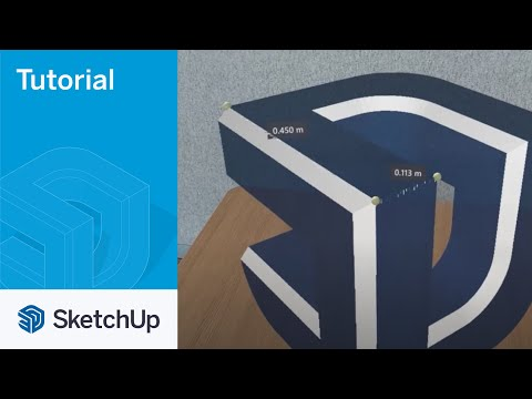 SketchUp Viewer for Hololens 2 12 Tape Measure