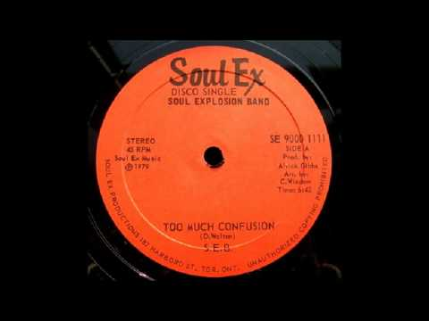 12'' Soul Explosion Band - Too Much Confusion (& dub)