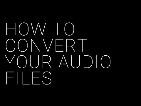 How to Convert Your Audio Files For Distribution (Tutorial)