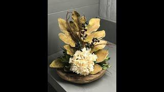 DIY Fall Floral Bowl