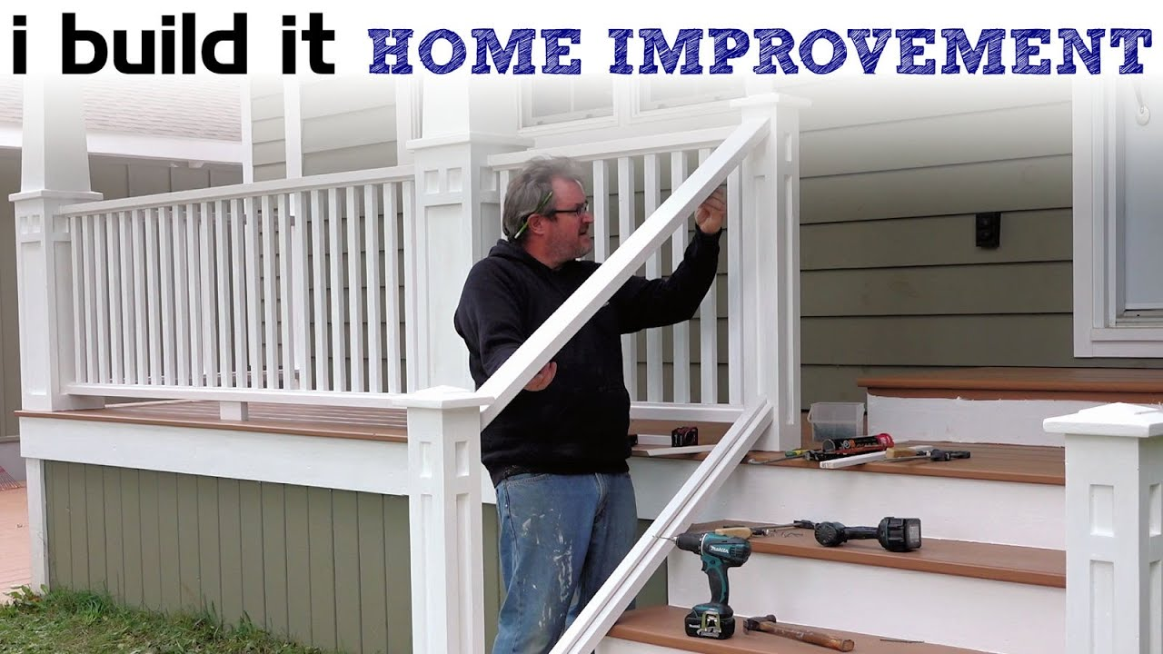 How To Make Porch Railings Youtube | Exterior Wood Handrails For Steps | Attached | Ready Made | Off Deck | Stoop | Pinterest