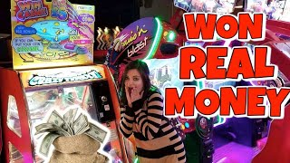 We Won REAL MONEY From Crazy Typhoon UK England Arcade Game ArcadeJackpotPro