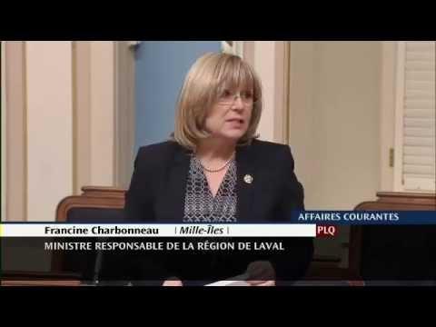 Francine Charbonneau - Déclaration de député - Semaine québécoise des popotes roulantes (17/03/2015)