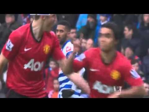 Rafael Da Silva Amazing Goal QPR 0-1 Manchester Utd 23-02-2013