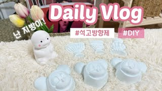 [Vlog] 첫 브이로그는 석고방향제 만들기~