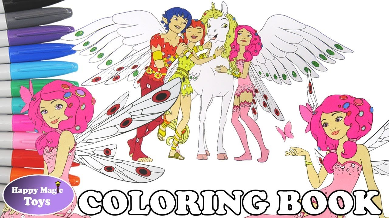 Mia and me coloring book page compilation mia onchao prince mo yuko mia and me colouring page