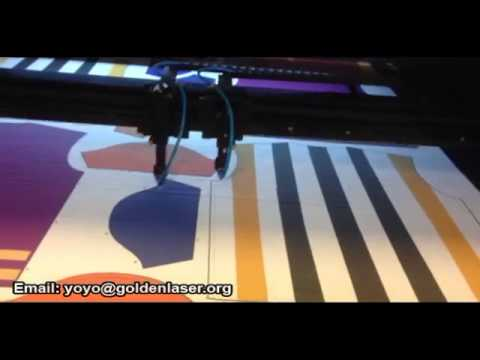 tejido automático de corte por láser de la máquina para el impreso ropa de deporte