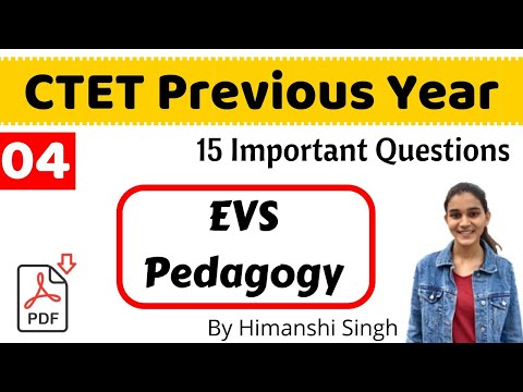 CTET-2019:  Previous Year Questions of EVS Pedagogy | Live-04