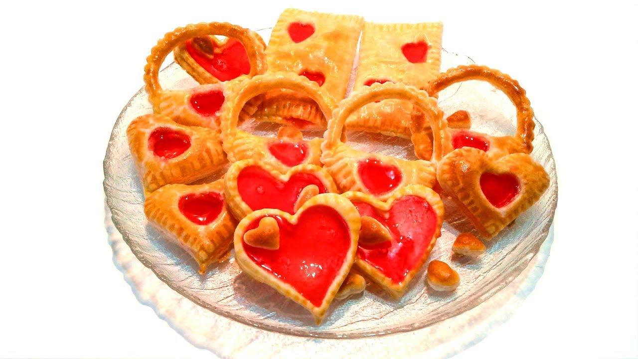 4 интересных трюка со слоёным тестом, которые пригодятся ко дню Валентина