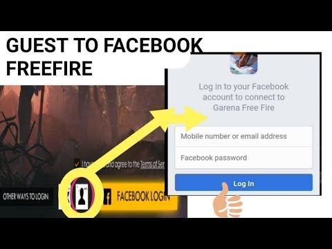 Free Fire Guest Account To Login With Facebook In Free Fire