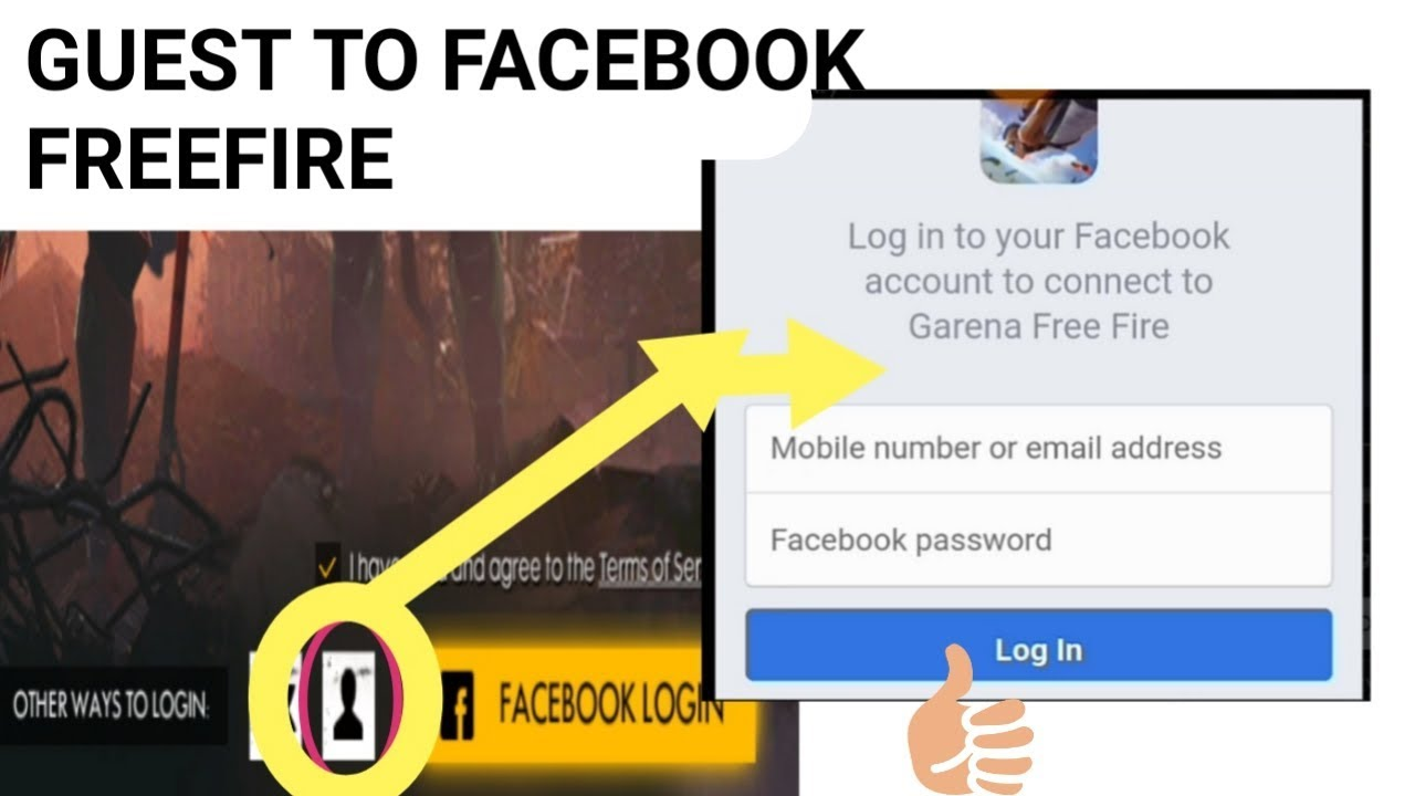 Free Fire Guest Account To Login With Facebook In Free Fire Detail In Urdu And Hindi Youtube