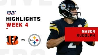 Mason Rudolph Leads Steelers to 1st Win w/ 229 Yds & 2 TDs | NFL 2019 Highlights