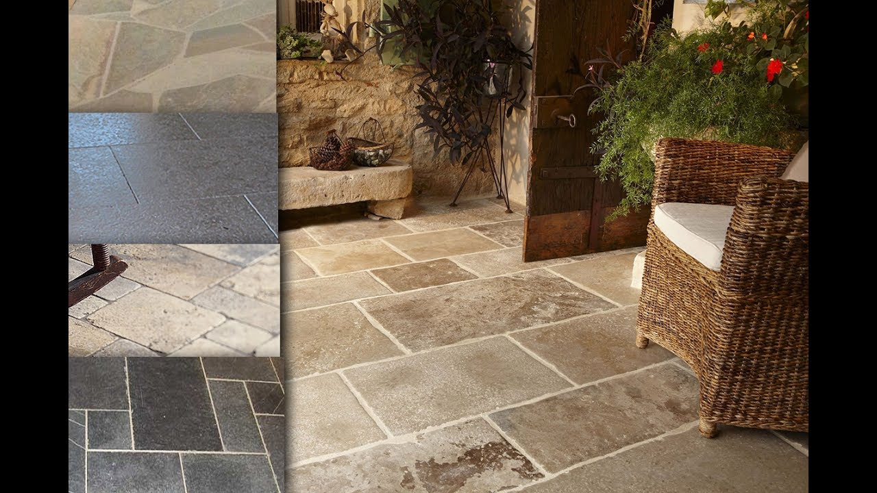 Natural Stone Floor Tiles For Home Designs Youtube