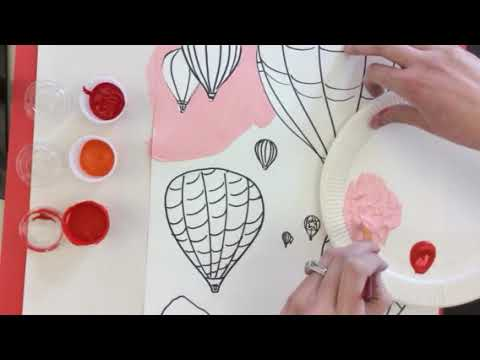 Painting with an analogous color scheme and tints