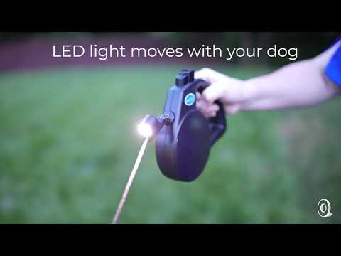 Walk Whiz | Tracking LED Retractable Dog Leash