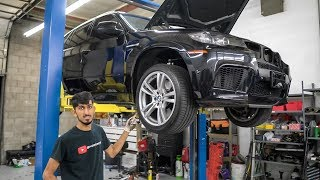 LOWERED BMW X5 ///M IS BACK AT THE SHOP!