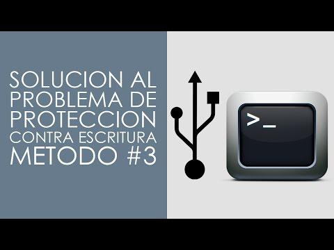 Solución al problema de la protección contra escritura - Método #3