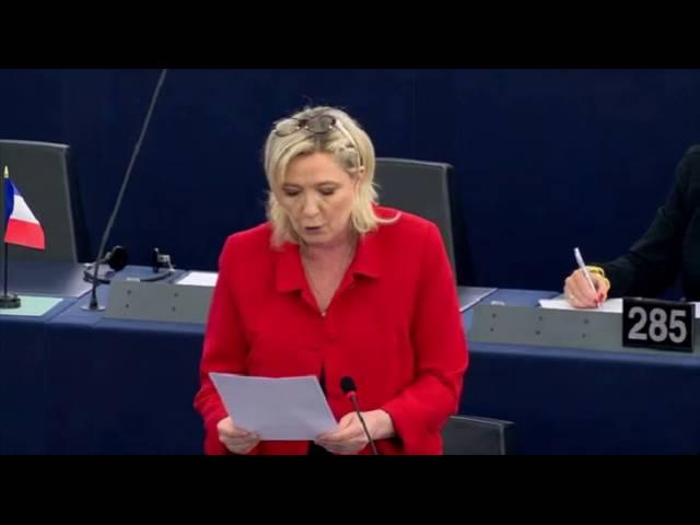 Marine Le Pen sur le statut d'économie de marché de la Chine