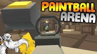 "GangZ MODDED Unturned Gameplay - ""CUSTOM PAINTBALL ARENA!!!"" - Unturned PvP Multiplayer"