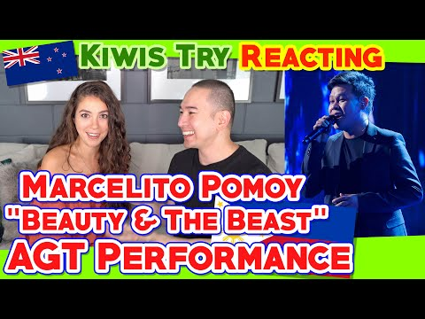 "Kiwis Try Reacting to Marcelito Pomoy ""Beauty and the Beast"" Performance at AGT!"