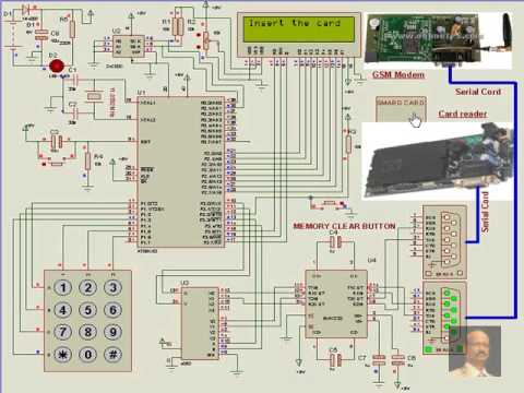 8051 Microcontroller project --ATM security Major Project ECE - YouTube