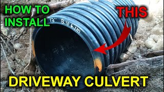 """How To Install a 12"""" Driveway Culvert in 20 Minutes"""