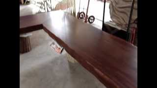 Solid Acacia Wood Slab Bar Table Tops Custom Made Reclaimed Wood