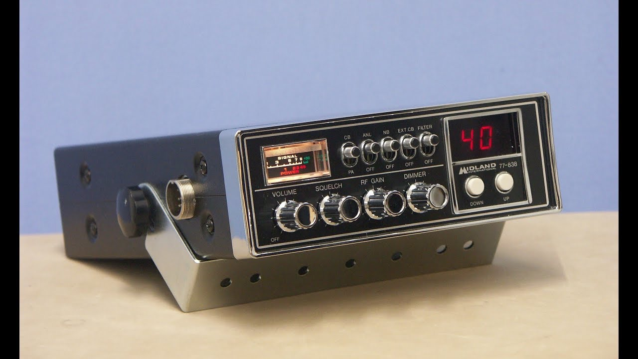 The US MIDLAND 77-838, 40 CH digital selector CB radio