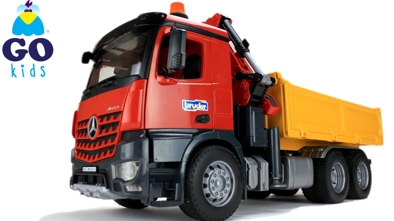 wheels on the bus toy dump truck nursery rhyme trucks gokids - Toy Dump Trucks