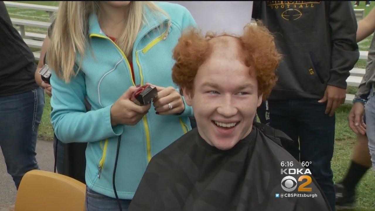 Football Team Goes Bald To Support 4th Grader Battling Cancer